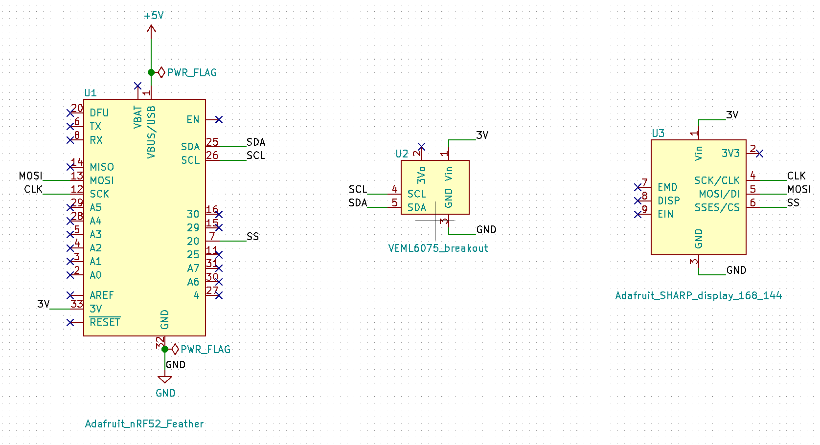 Display UV and LiPo values schematic