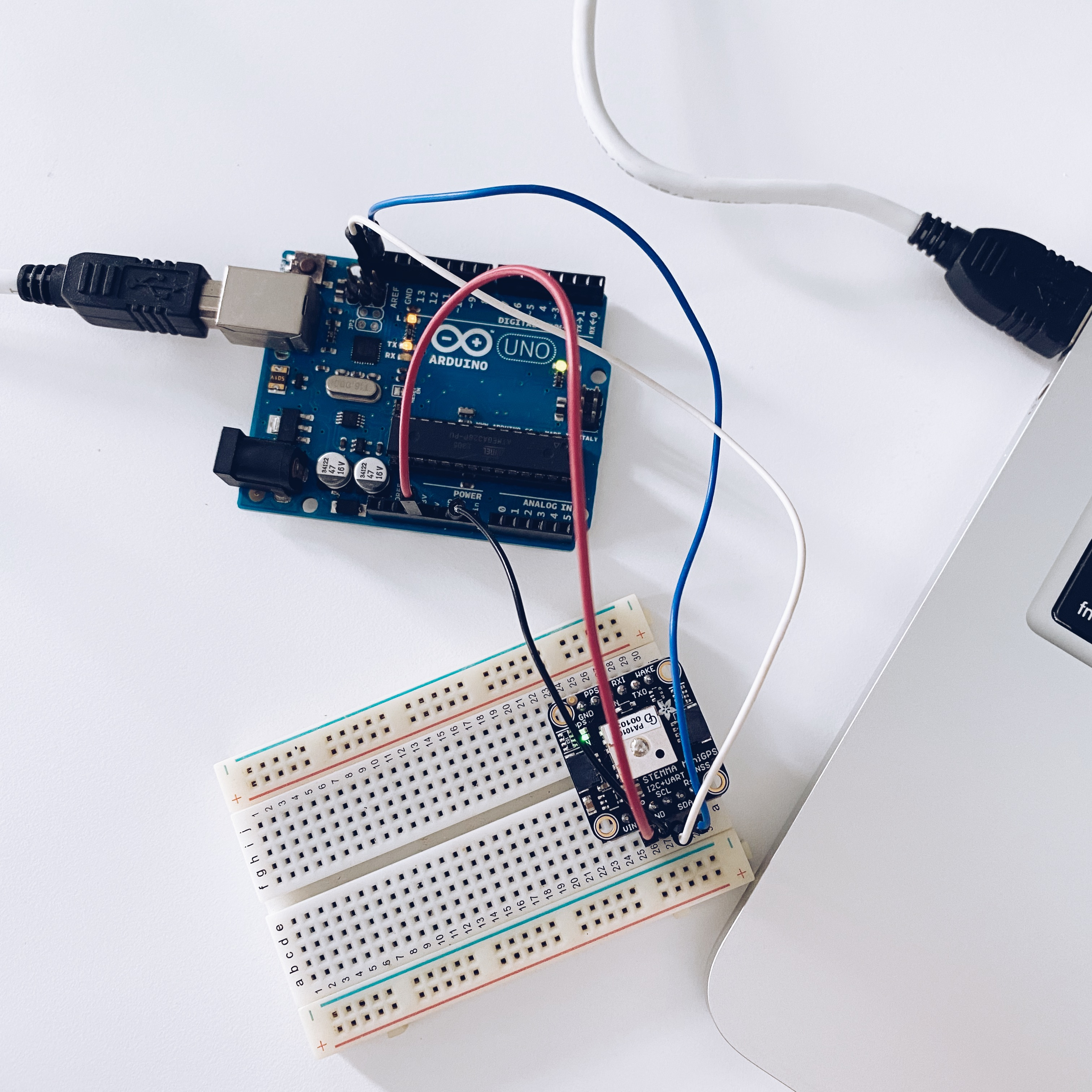 GPS parsing with PA1010D and Arduino UNO with I2C prototype